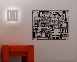 paint or cut out large oversized circuit board pattern for the