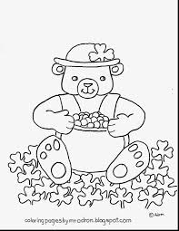 extraordinary teddy bear coloring pages with st patricks coloring
