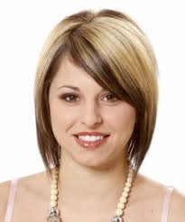 hairstyles short on an angle towards face and back short hairstyles for round faces 2018 2019