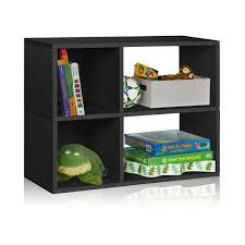 2 Shelf Black Bookcase Black 2 Shelf Cubby Bookshelf And Storage Bookcase Way Basics