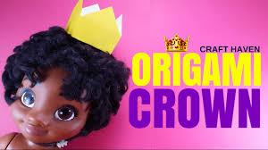 easy origami crown paper crown tutorial for beginners diy