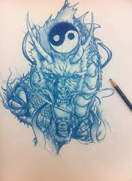 dragon yin yang and skull by sued053 on deviantart