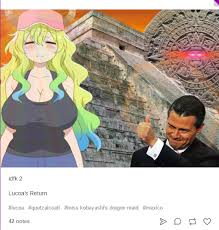 Mexican Maid Meme - lucoa s return miss kobayashi s dragon maid know your meme