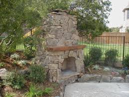 stone fireplace outdoor binhminh decoration