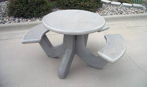 round cement picnic tables round precast concrete picnic table outdoor furnishings barco