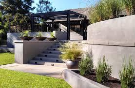 Garden Wall Retaining Blocks by Modern Retaining Wall Modern Backyard Garden Concrete Retaining