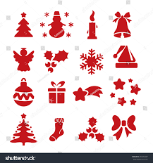 set icon new year stencils vector stock vector 661044037