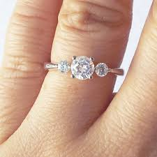wedding rings three stone engagement ring with band 3 stone