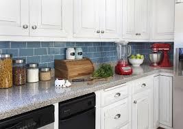 Our Modern Cottage Kitchen Makeover Four Generations One Roof - Blue tile backsplash kitchen