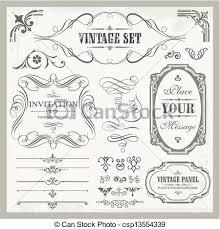 vectors of vintage ornaments vintage ornaments csp13554339