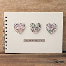 wedding memory book personalised small hearts wedding album wedding stationary