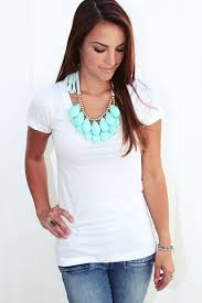 necklace with white shirt images Spice up jeans and a white t shirt jpg