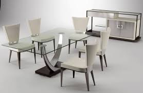 Modern Dining Room Furniture Design Best  Concrete Dining Table - Modern glass dining room furniture