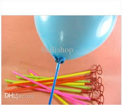 plastic balloons 40cm plastic balloon holder sticks multicolor cup for wedding