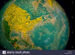 East Coast Map America by Close Up Of Old Fashioned World Globe A Ball Shaped Map Lit From