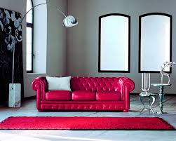 Chesterfield Sofas by Chesterfield Sofa Leather 3 Seater Red Alioth Doimo Sofas