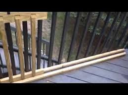 easy sliding gate for your deck youtube kids gates pinterest