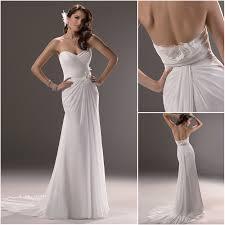plain wedding dresses sheath sweetheart court chiffon plain wedding dresses with flowers 49326567913198 jpg