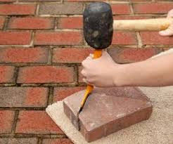 How To Cut Patio Pavers How To Cut Paver Stones With A Chisel Cuttings Patios And Walkways