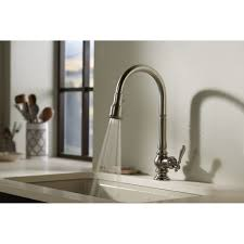 single kitchen sink faucet kohler k 99259 artifacts single kitchen sink faucet wih 17 5