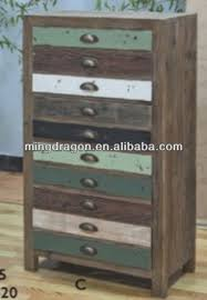 distressed wood file cabinet chinese antique reclaimed wood distressed ten colorful drawers