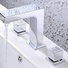 widespread three holes modern bathroom faucet