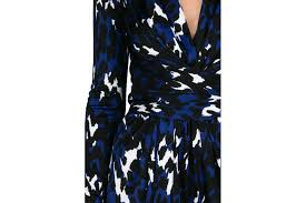 issa harleth blue print wrap dress at sue parkinson