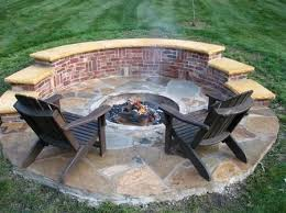 Brick Firepit How To Build A Pit How To Build A Pit With Bricks How To