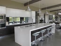 love the island and the lights above contemporary kitchens