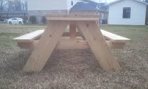 Build A Picnic Table by How To Build A 6 Foot Picnic Table Jays Custom Creations