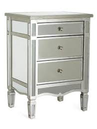 Silver Mirrored Nightstand Bedside Table Just Like Kevin And Dani Jonas U0027 Bedroom Furniture