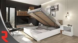 Lifting Bed Frame by Lifting Mechanism For Beds With Integrated Storage Youtube
