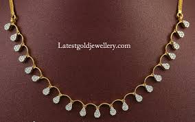 simple necklace gold jewellery designs