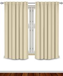Wide Window Curtains by Amazon Com Blackout Room Darkening Curtains Window Panel Drapes
