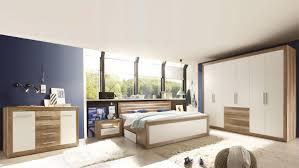 Schlafzimmer Komplett Led Fernando Canyon Oak Weiß Komplett Mit Sideboard