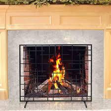 pilgrim 39 u0027 u0027 x 31 u0027 u0027 black contemporary summer fireplace screen