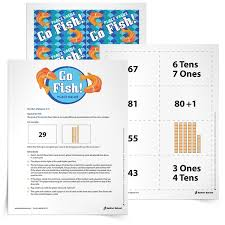 printable math games on place value go fish place value game for grades k 3 free resource from sadlier