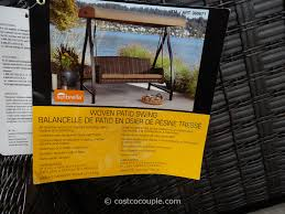 Agio Patio Furniture Costco - agio international fairview woven patio swing