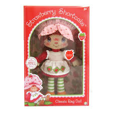 strawberry shortcake retro soft doll classic rag toys