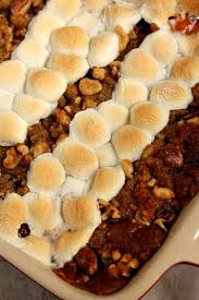 sweet potato casserole with praline marshmallow topping recipe
