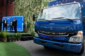 truck mitsubishi fuso daimler launches short range electric truck in new york readies