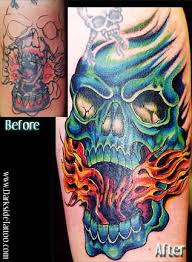 gallery tattoos julio rodriguez skull cover up