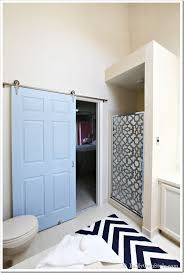 bathroom door ideas bathroom gets a makeover using rolling door hardware