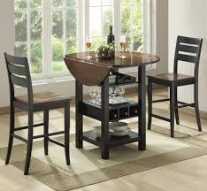 3 piece table and chair set dining room furniture collections fbernards fridgewood black pub