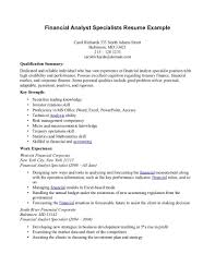 Operations Specialist Resume Sample Example Of Financial Analyst Resume Resume For Your Job Application
