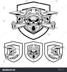 skull motocross helmet royalty free skull motocross and mountain bike helmet 399141046