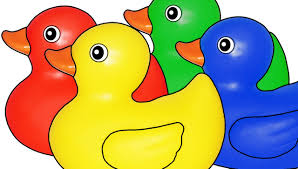 rubber ducks teaching colors learning basic colours video for