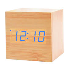 Modern Desk Calendar by Wooden Smart Alarm Clock Kolis Modern Stylish Wood Shaped Voice
