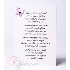 Wedding Gift Money Poem Awesome Gift Poems For Wedding Invitations Contemporary Images