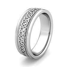 celtic knot wedding bands custom milgrain celtic wedding ring band for men in gold and platinum
